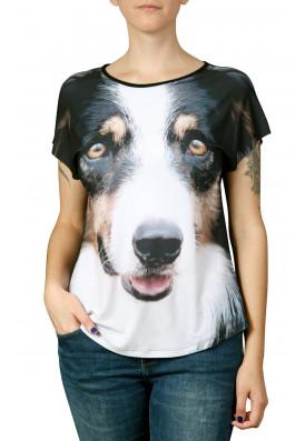 Camiseta Premium Evasê Border Collie