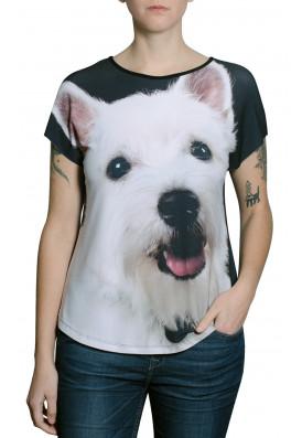 Camiseta Premium Evase Westie