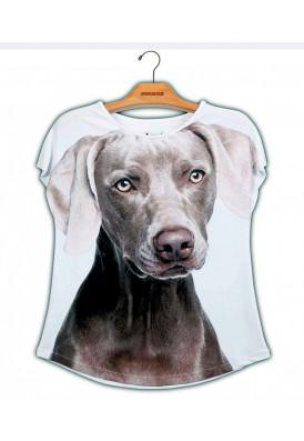 Camiseta Premium Evasê Weimaraner