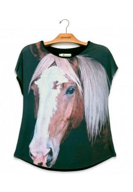 Camiseta Premium Evasê Cavalo Baio