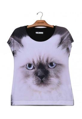 Camiseta Premium Reta Gato Brisa