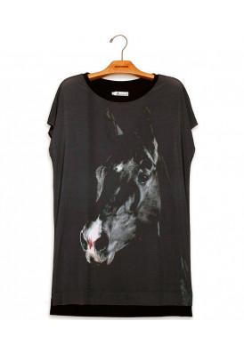 Vestido Camiseta Premium Cavalo