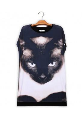 Camiseta Vestido Premium Gato