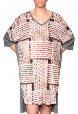 Kaftan Tricot-Shirt Tranças Camaru