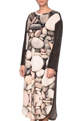 Vestido Longo Plush Seixos