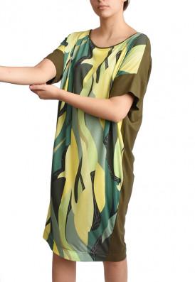 Vestido Folhas Green