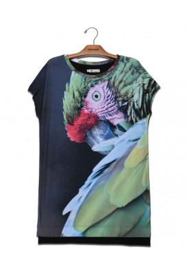 Camiseta Vestido Premium Arara