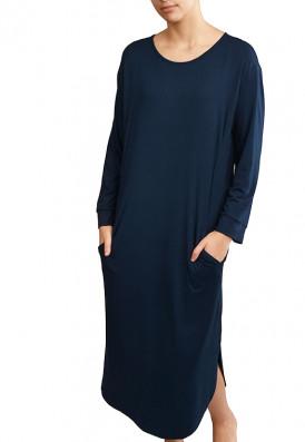 Vestido Bolsos Azul Noite