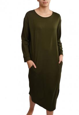 Vestido Bolsos Verde Cedro | USENATUREZA.com